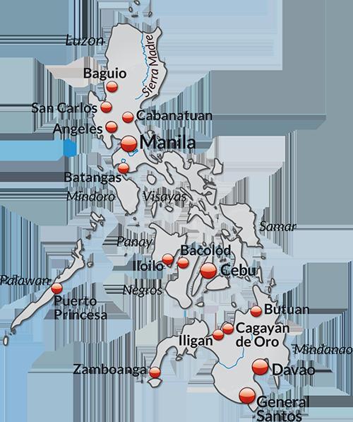 AIMIX sa mapa ng Pilipinas