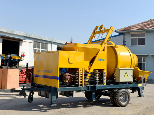 mini concrete mixer with pump