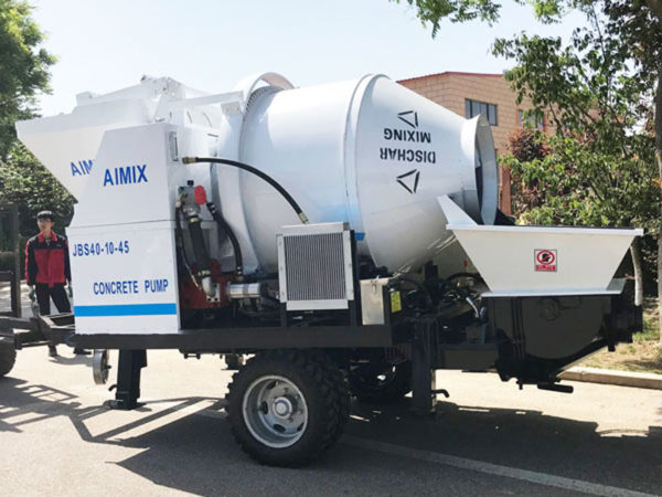 portable concrete mixer with pump