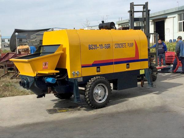 portable concrete trailer pump