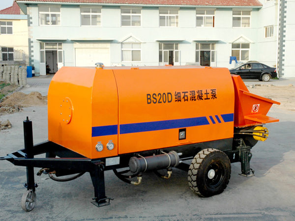 mini concrete trailer pump