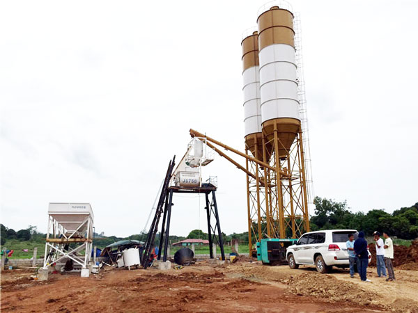 small batching and mixing plant