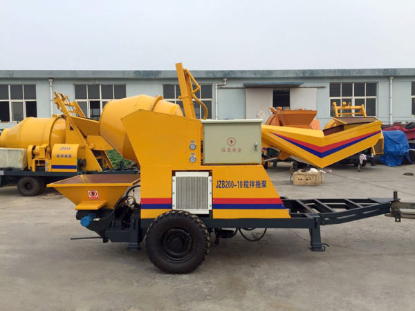 diesel concrete mixer pump machine