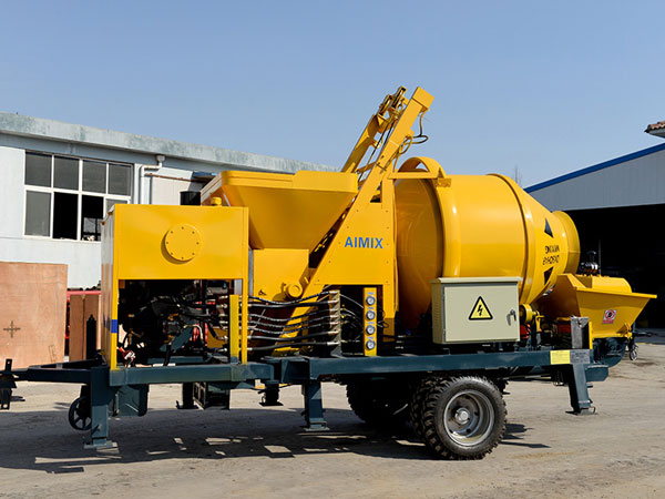diesel concrete mixer with pump for sale