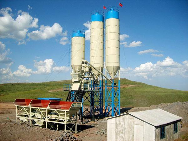 mini stationary concrete plant