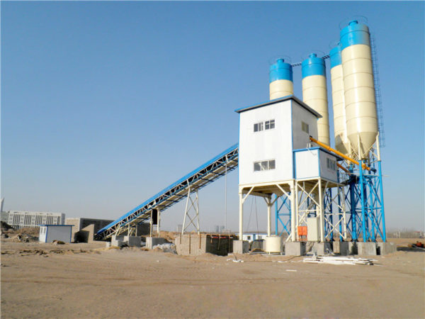 stationary concrete plant machine