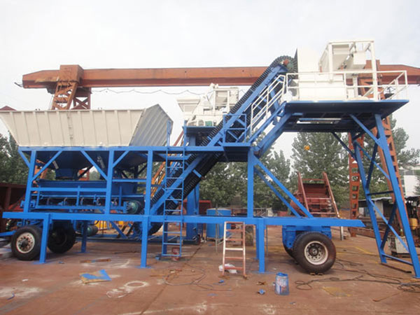 mobile type concrete plant