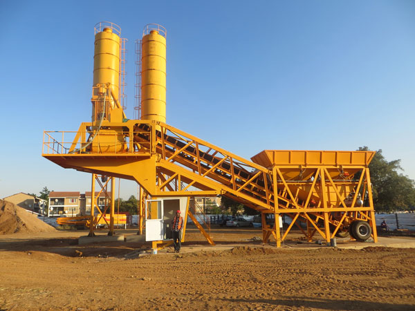 portable cement mixing plant
