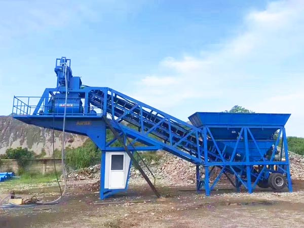 small mobile type concrete plant