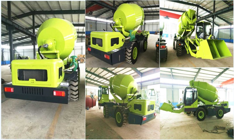 3.2cub self loading concrete mixer truck