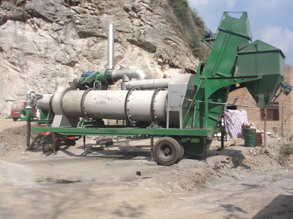 QLB20 mobile drum mix plant