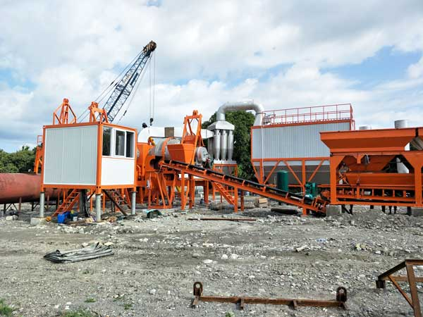 QLB60 mobile drum mix plant