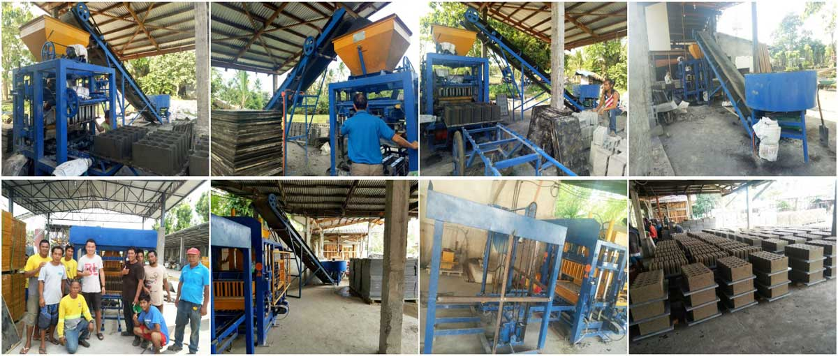 ABM4S cement block making machine for sale in Philippines