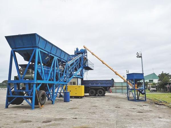 YHZS35 mobile cement plant