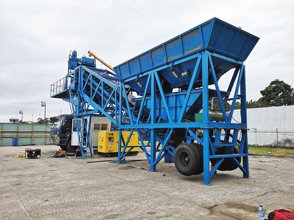 YHZS35 mobile concrete plant
