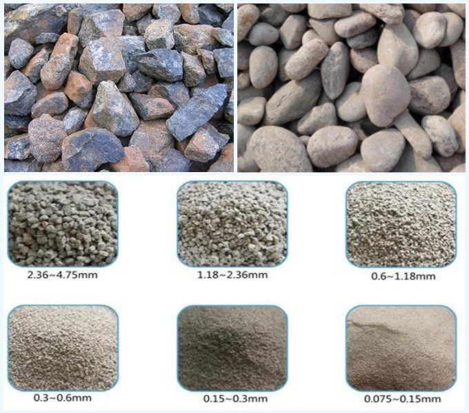 different size of raw materials