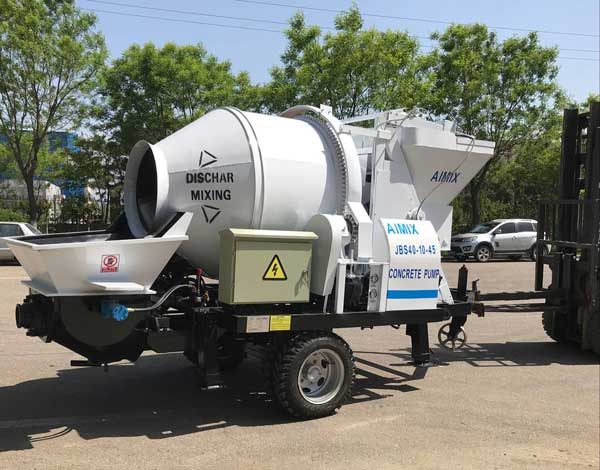 electric ocncrete mixer with pump