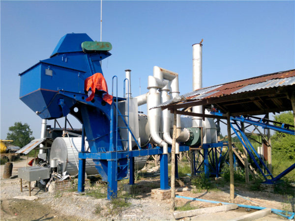 DHB20 stationary drum mix plant