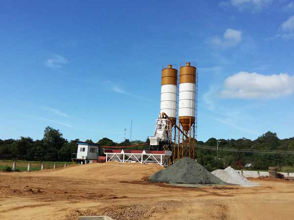 AJ-35 wet mix concrete batch plant