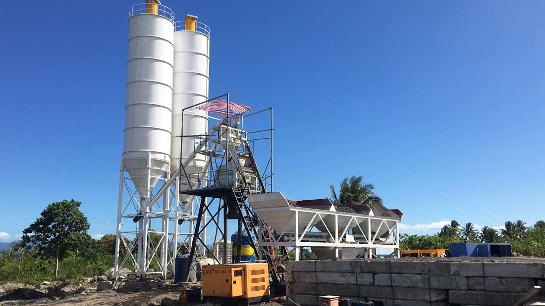 AJ-50 wet mix concrete batch plant in philippines