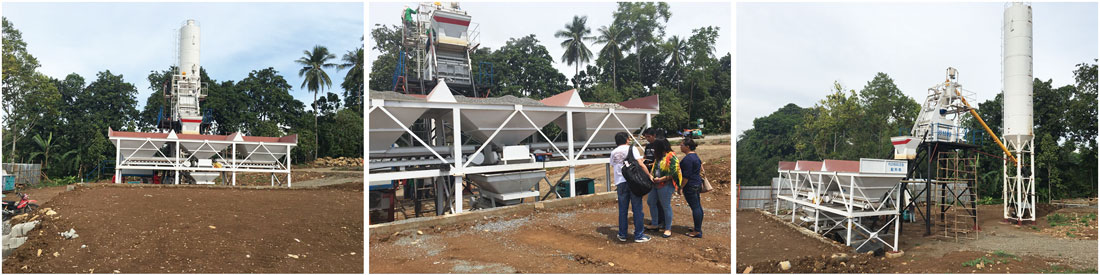 AJ-50 wet mix concrete batch plant works in philippines