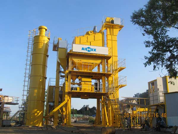 LB1000 stationary asphalt mix plant