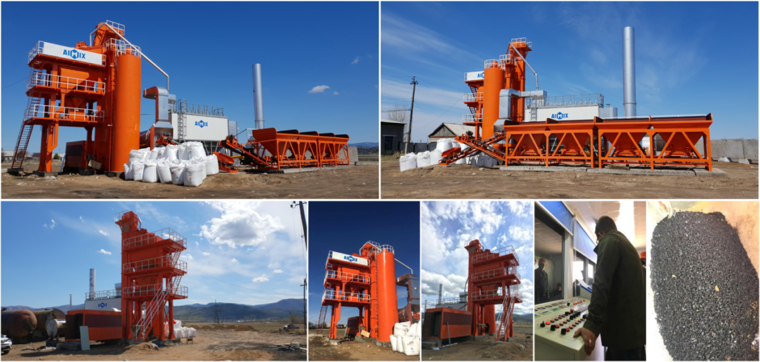 LB1200 stationary asphalt mixing plant in Philippines