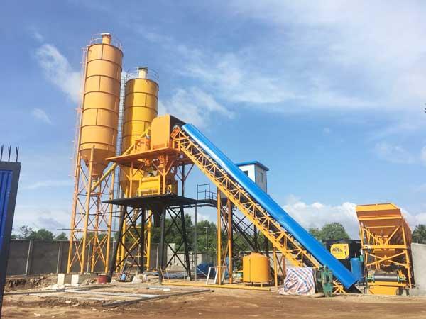 hzs60 wet mix concrete plant