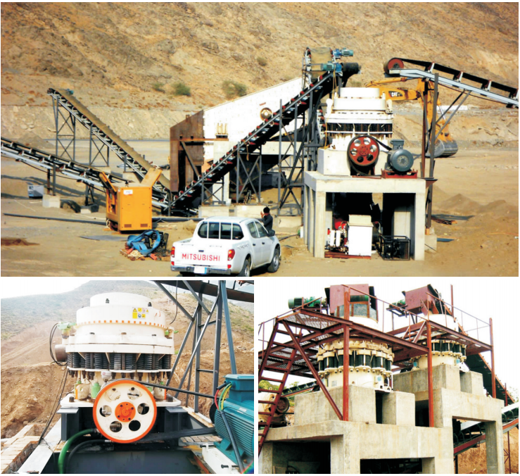 our cone crusher works in the conastruction site