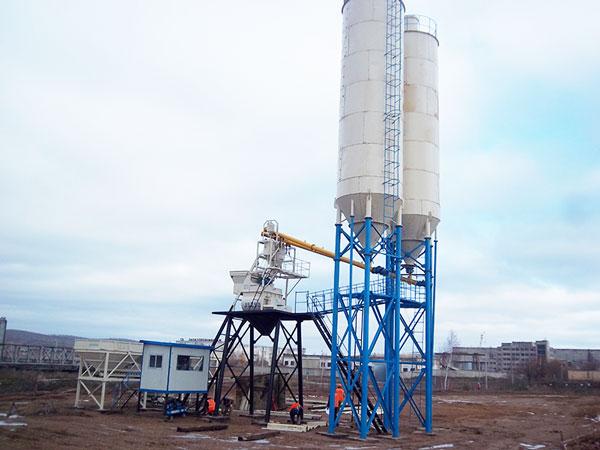 HZS35 concrete batch plant