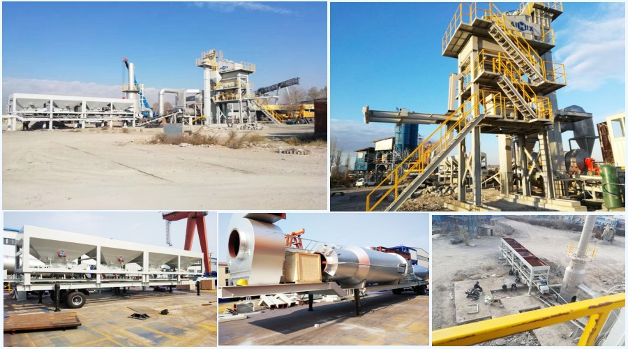 ALYQ80 mobile type hot mix plant in philippines