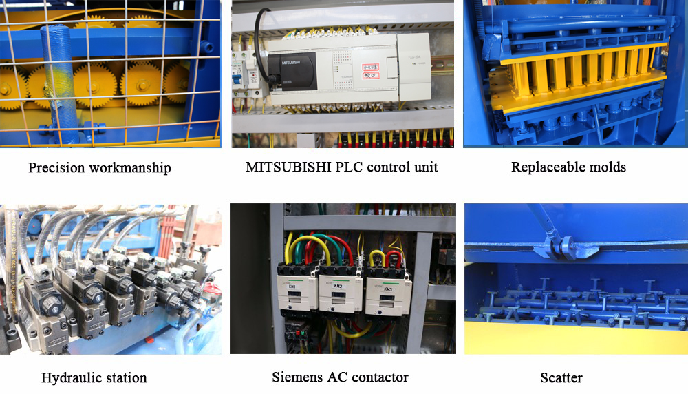components of solid block machines
