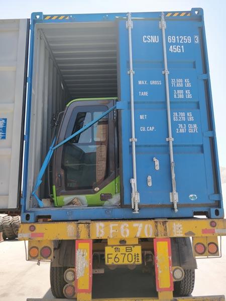 1.8cub loading mixer truck