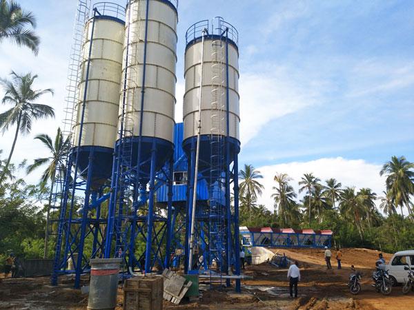 AJ-60 concrete batching plant for sale in Sri Lanka
