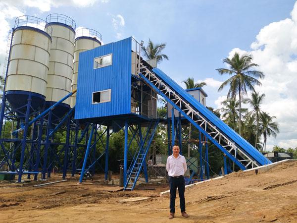 AJ-60 concrete plant for sale in Sri Lanka
