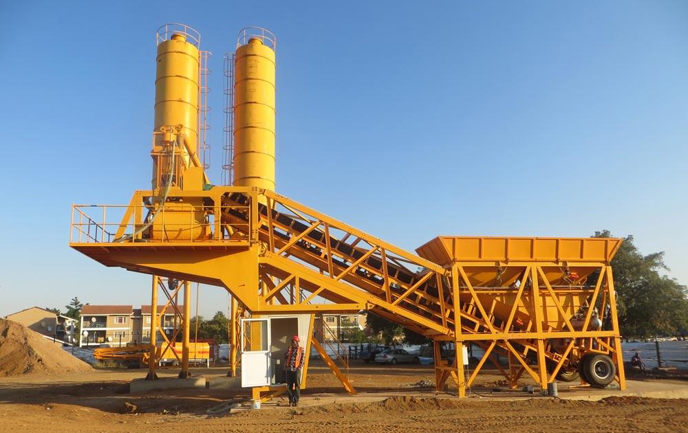 YAJ-35 concrete batching plant for sale