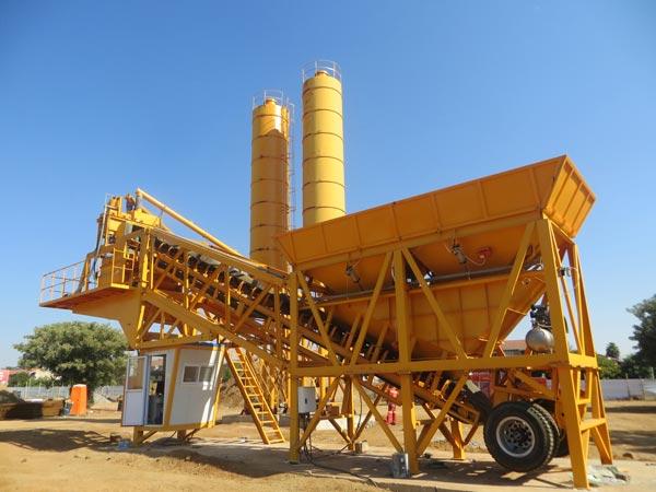 YAJ-35 mobile concrete batch plant for sale
