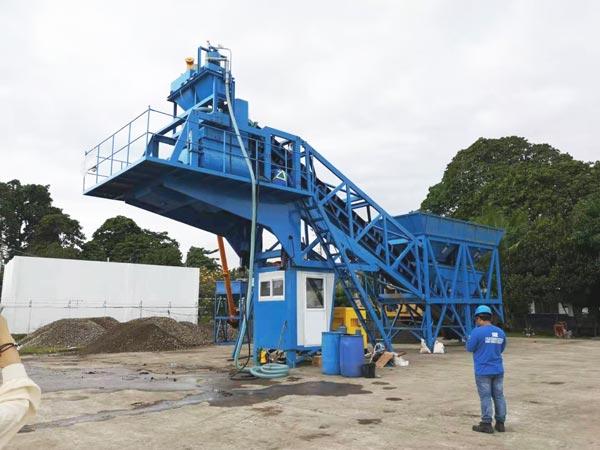 YAJ-35 mobile concrete batching plant for sale