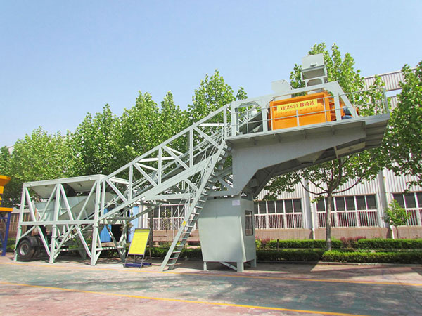 AJY-50 mobile concrete batching plant