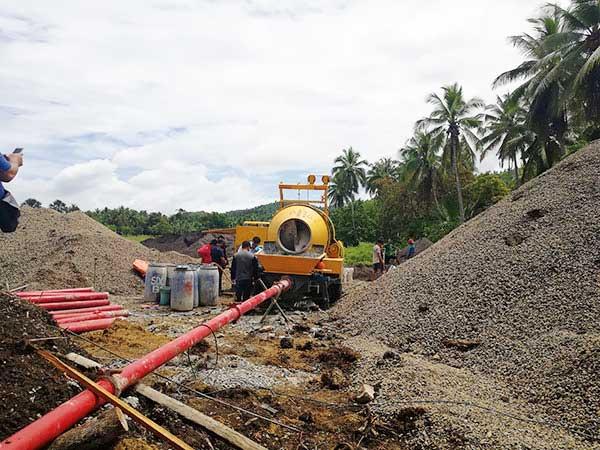 application of hydraulic concrete pump