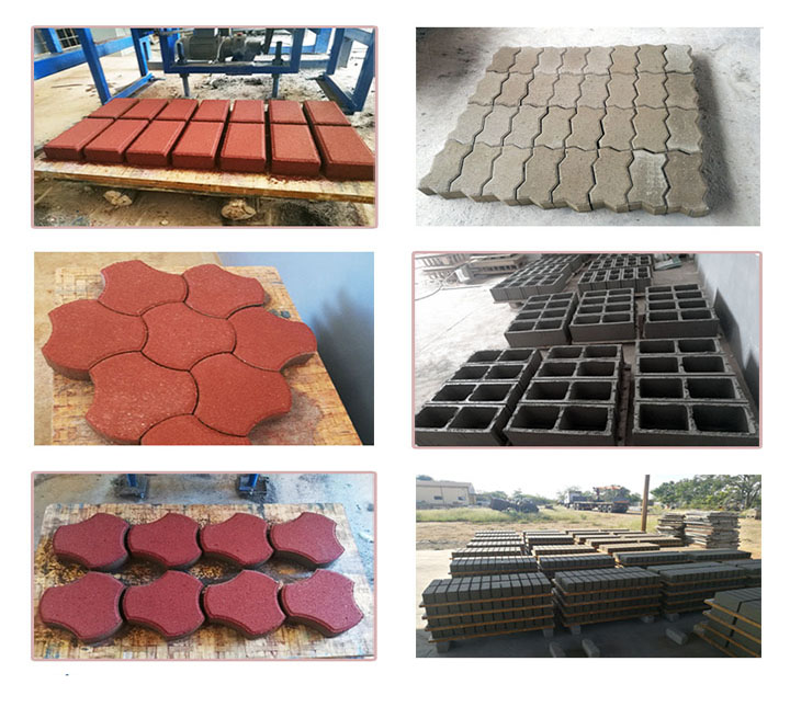 different finished bricks product