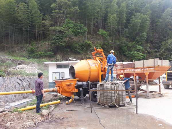 work for slope protection project