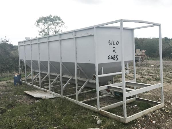 100t horizontal cement silo