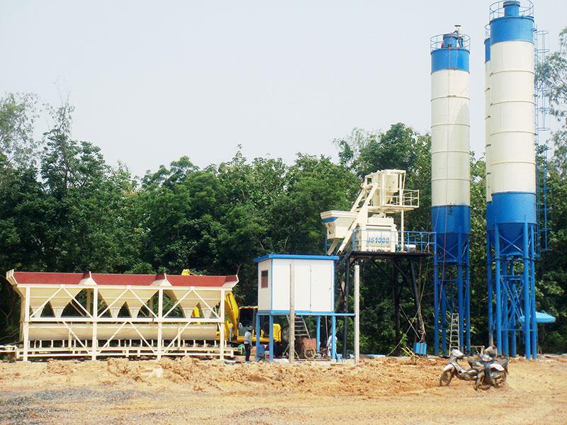 AJ-75 small concrete plant