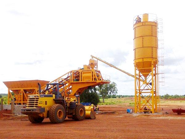 AJY-25 portable concrete plant
