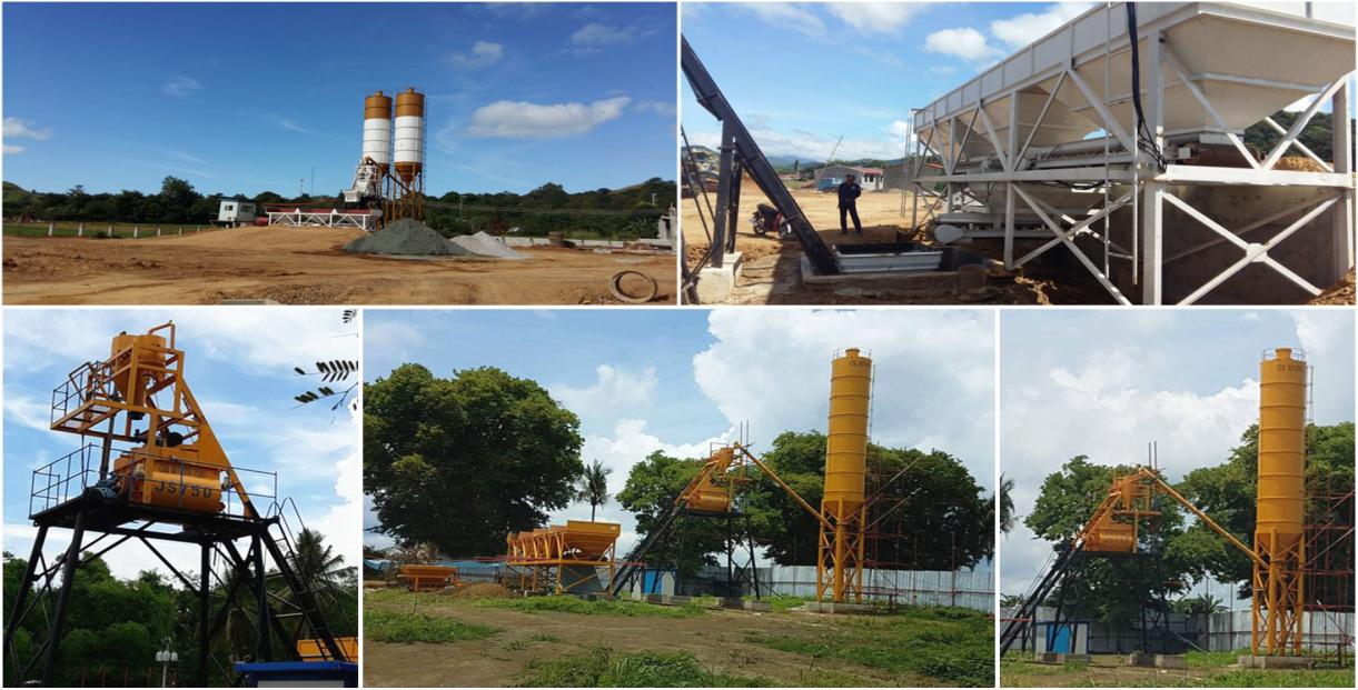 Aimix AJ-50 mini concrete plant in Philippines