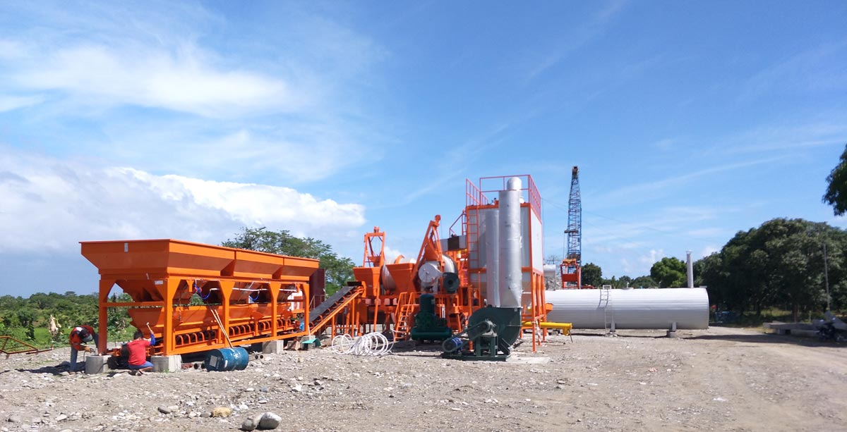 QLB60 drum mix portable asphalt plant