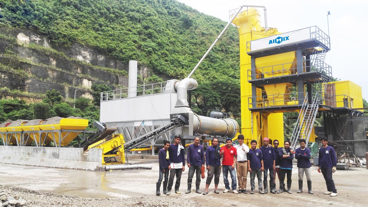 YLB1500 portable asphalt plant in Philippines