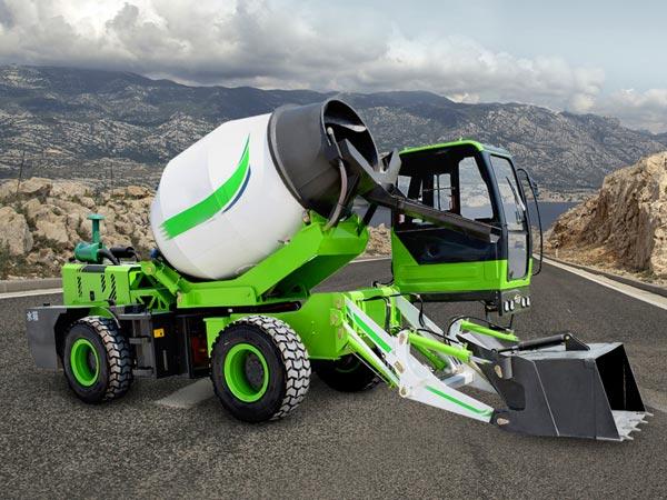 1.8cub self loading concrete mixer truck for sale