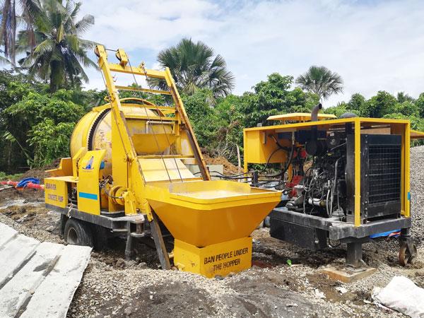 ABJZ40C mobile concrete mixer pump